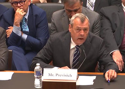 President Previsich testifies before House Subcommittee image